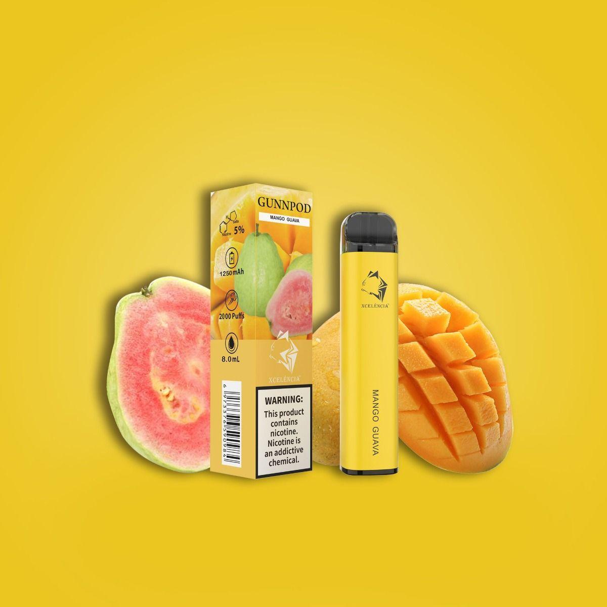 Gunnpod Disposable Vape With Nicotine 5% - Vape Electronics Vape Shop NZ